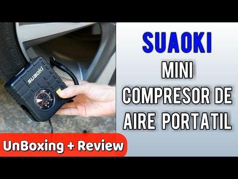 Suaoki Mini Compresor De Aire Portátil Multiuso | Unboxing Review En Español