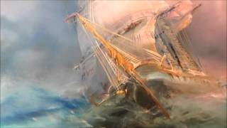 Oil painting  Seascape with sailboat Part 2