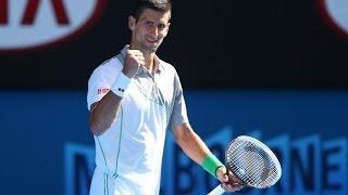(HD) Novak Djokovic vs Fabio Fognini Australian Open 2014 R4 - HIGHLIGHTS
