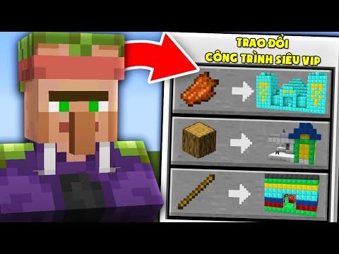 Minecraft, Nhưng Dân Làng Đổi Công Trình Siêu Vip! Noob Có Ngôi Nhà Dân Làng Vip Nhất Minecraft ??