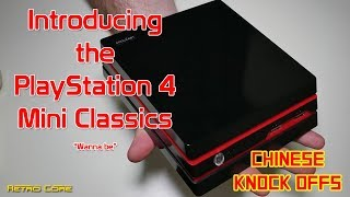 Chinese Knock Offs - PlayStation 4 Mini Classics!!!! Wanna be ! - 4K