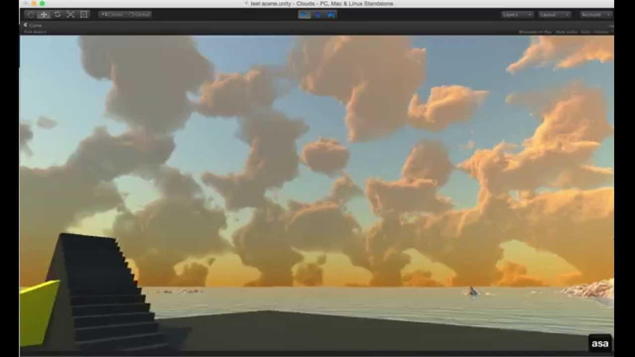 WIP Unity volumetric clouds - light scattering progress by kode80