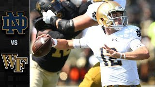 Notre Dame vs. Wake Forest Football Highlights (2018)