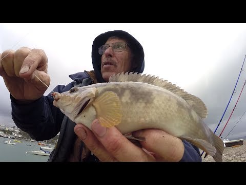 Man Fishing Alone on a Pier: Solo Fishing Trip [FULL DOCUMENTARY]