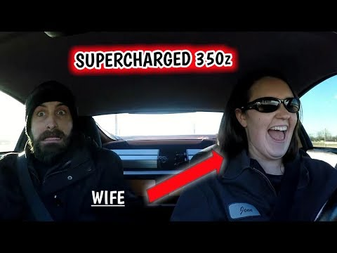 Wife Drives the SUPERCHARGED 350z!!! Blown Engine Carnage!!! - a21bravo