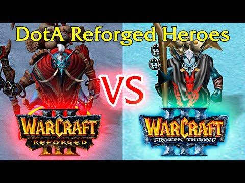 Warcraft 3 Reforged Vs Clásico - Dota 1 Modelos De Héroes