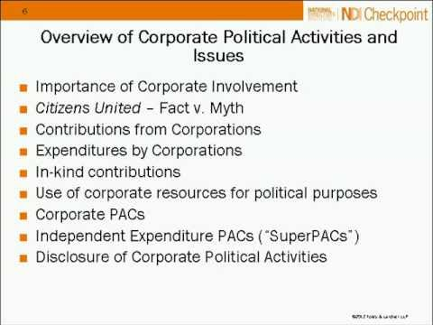 Corporate Lobbying Compliance and Political Activities in 2012