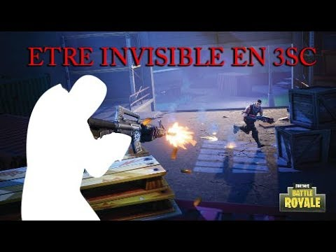 how to appear invisible on fortnite