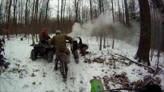 Burning 2-Stroke KTM Dirt Bike