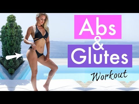 Abs and Glutes Workout - FLAT BELLY & PERKY BOOTY | Rebecca Louise