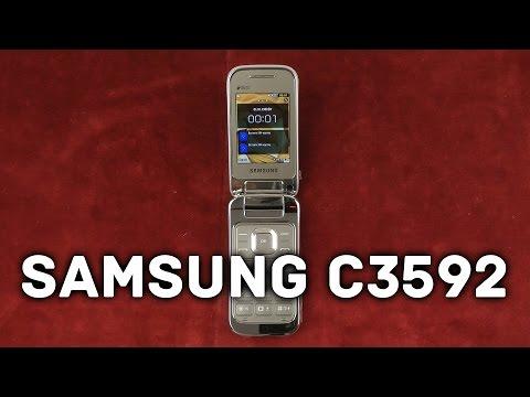 Распаковка Samsung C3592 Duos Titanum Silver