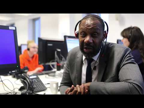 Sir Lenny Henry at Birmingham City University Clearing
