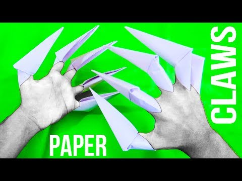 How to make Paper Claws (easy)