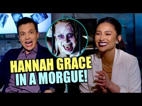 Shay Mitchel Enjoys Scary Prank at Interviewer - THE POSSESSION OF HANNAH GRACE