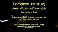 Fernpass - Von Ehrwald nach Imst in Tirol - Austria - Windschutzscheibensicht – Komplett/Echtzeit