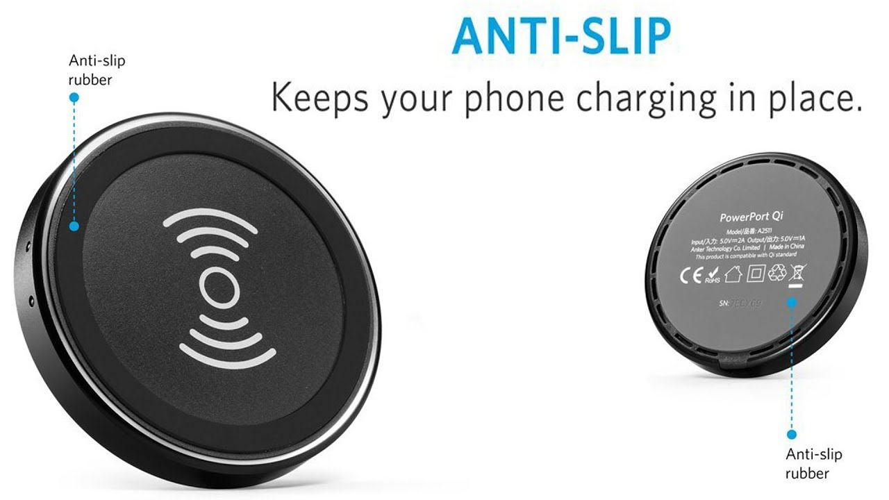 Anker Wireless Charging Pad Youtube Samsung Galaxy J7 Plus Black Free Poweport