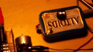DC motor and guitar pick up