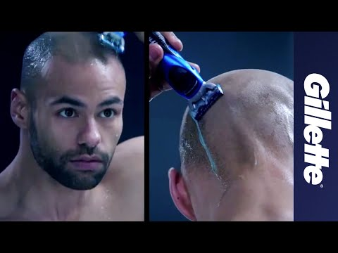 Shaved head with the All Purpose Gillette STYLER
