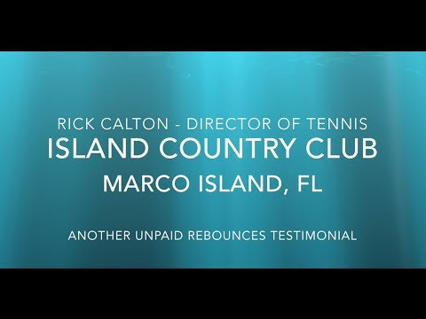 Rick Calton at Island Country Club Goes Green with reBounces