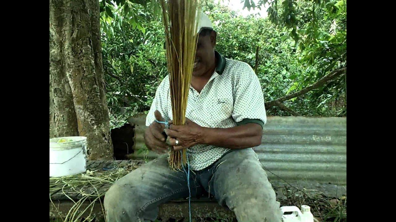 Coconut Leaf Broom Youtube