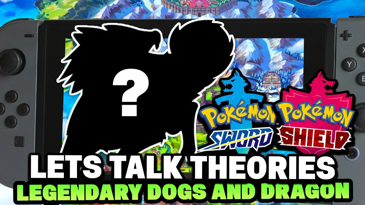 Pokemon Sword Shield Wolf Legendaries Based On Black Dog