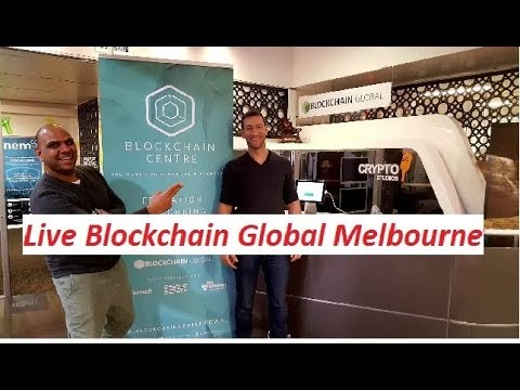 BLOCKCHAIN GLOBAL MELBOURNE - BITCOIN SPACE - Live With MARTIN Davidson and Chris Cubbage