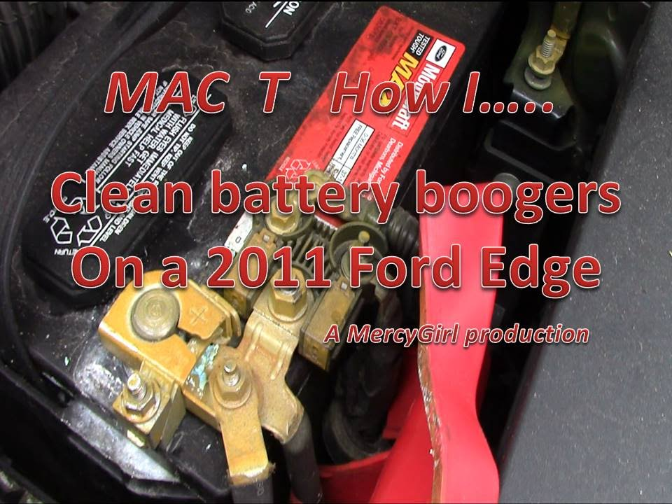Battery boogers on a 2011 Ford Edge  YouTube