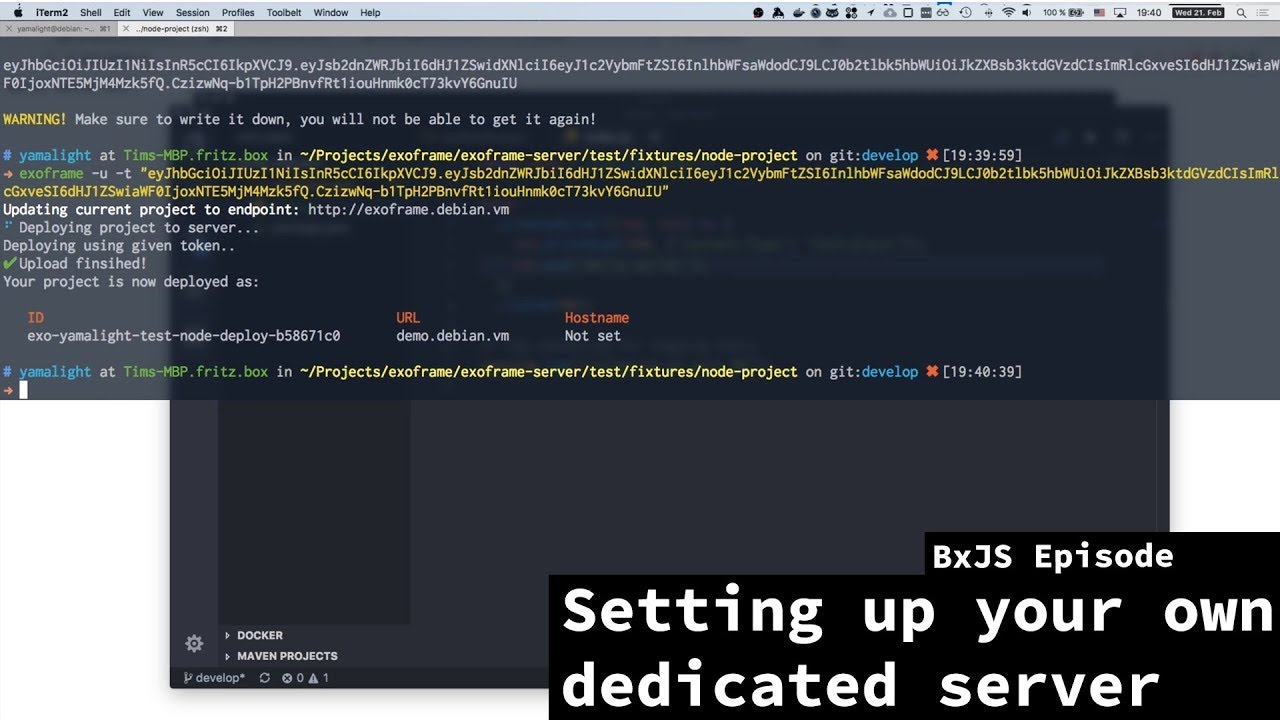 BxJS - Setting up a server for deployment with Docker and Traefik