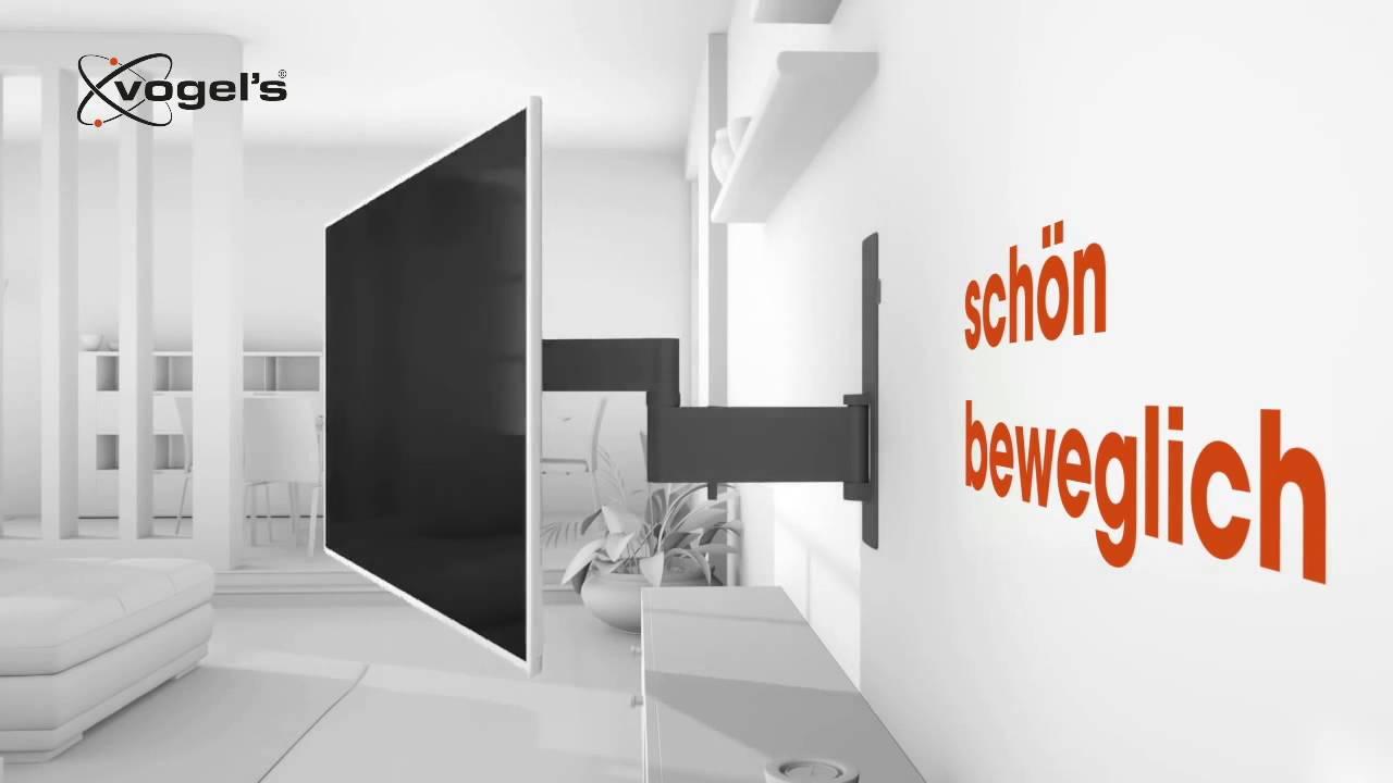 vogels next 7345 tv wandhalterung mit schwenkarm youtube. Black Bedroom Furniture Sets. Home Design Ideas