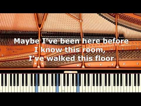 Rufus Wainwright  Hallelujah  Piano Karaoke  Sing Along   with Lyrics