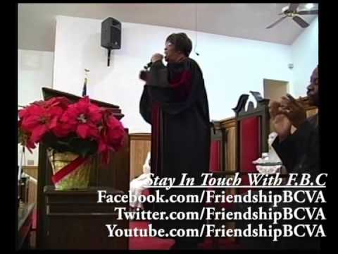 Pastor Beverly Ashburn Of Friendship Baptist Church Newport News VA