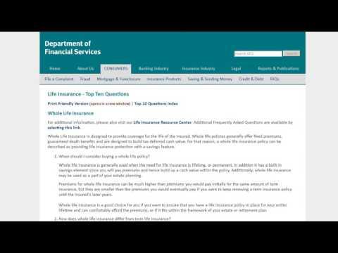 Life Insurance Top Ten Questions