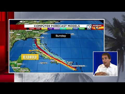 Bryan Norcross shows models for what may become Tropical Storm Isaias