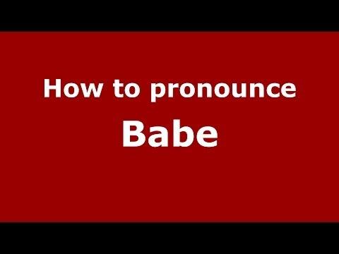 How to pronounce Babe (Italian/Italy)  - PronounceNames.com