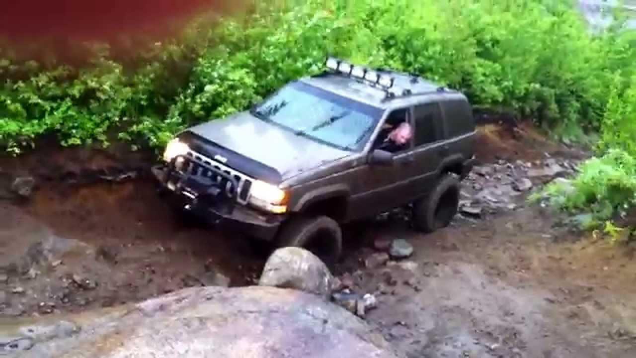 Jeep Grand Cherokee Zj Off Road Flexing Youtube Xj 5 Inch Lift 31s