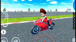 PAW Ryder Moto Racing 3D Game | (mini) Bike wala game - Patrol Games #Bike Game To Play for Android