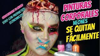 Pinturas corporales Julia Sánchez y cosas de efectos especiales maquillaje neon