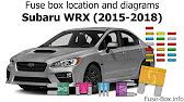 Fuse Box Location And Diagrams Subaru Wrx 2015 2018