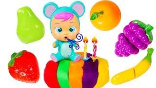 Lala aprende las Frutas 🌈👶 Tarta de Colores Bebés Llo...