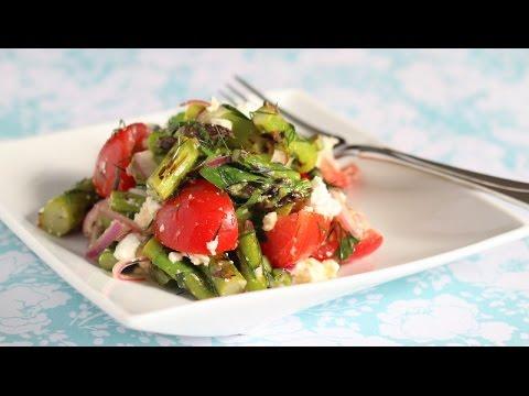 Grilled Asparagus Tomato Feta Salad