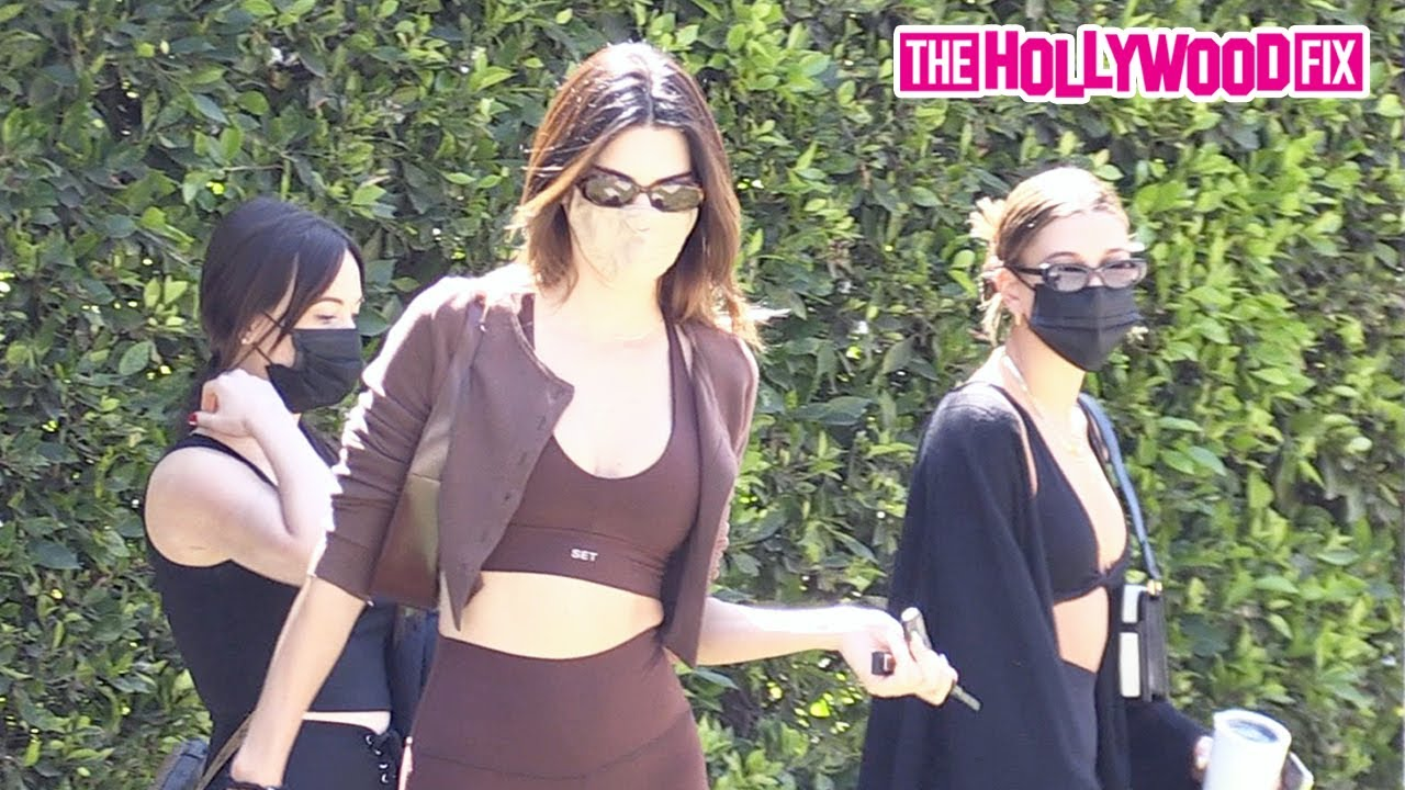 Kendall Jenner & Hailey Bieber Work Up A Sweat Together As The Next Billionaires At Pilates Class