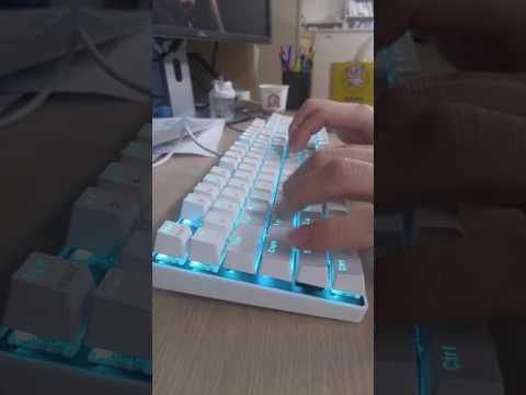한성컴퓨터 기계식 키보드  Gtune MKF14S XRGB 갈축 타이핑