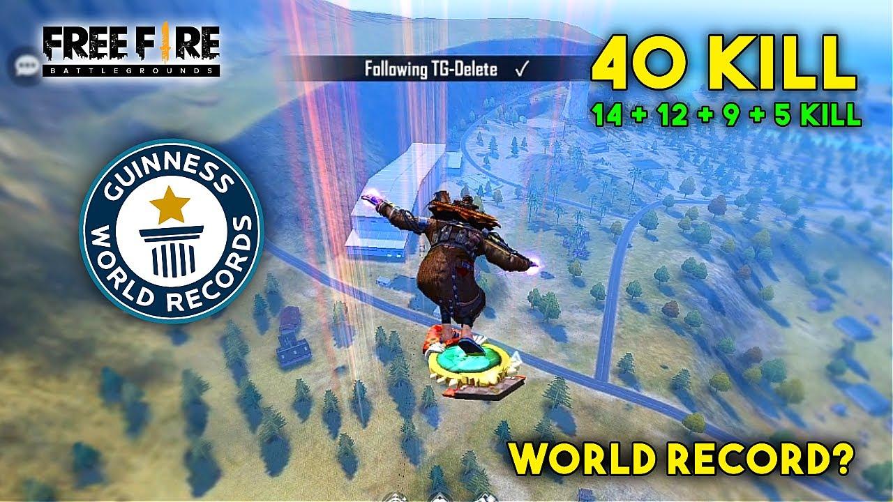 TOTAL 40 KILL WORLD RECORD? HEROIC RANK MATCH | GARENA FREE FIRE | TOTAL GAMING