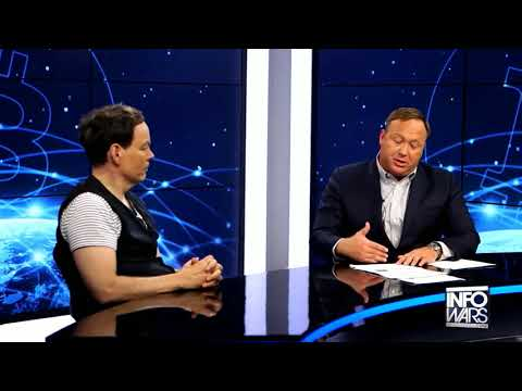 Max Keiser talking to Alex Jones about trading patents and B
