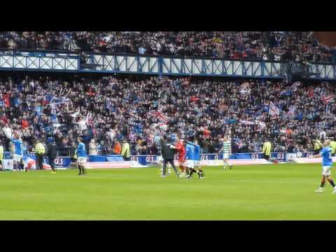 A fans view of Mo Edu's winning goal against Celtic and the final whistle celebrations.