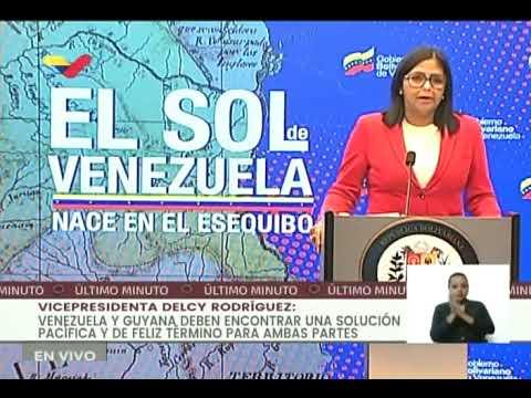 Delcy Rodríguez: Venezuela no reconoce jurisdicción de Corte Internacional de Justicia en Esequibo