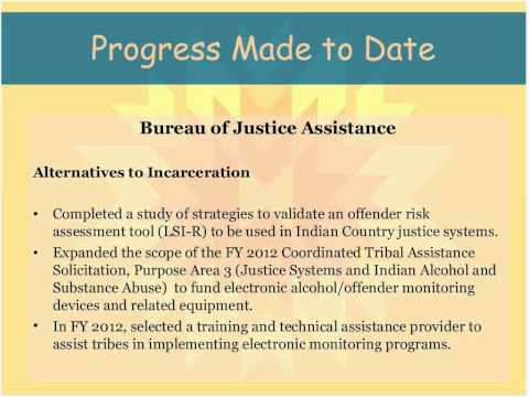 TLOA Tribal Justice Plan An Overview & Update on Implementation 20120919 1900 1