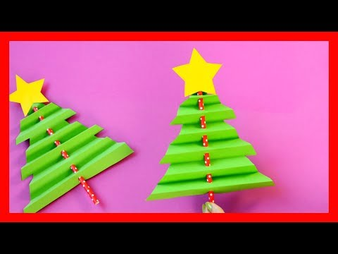 Accordion Paper Christmas Tree - fun Christmas crafts for kids