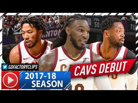 Dwyane Wade, Derrick Rose & Jae Crowder Full Highlights vs Celtics (2017.10.17) - Cavaliers Debut!
