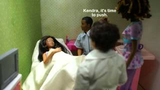 Repeat youtube video A Barbie Fashion Doll Story: Ep 79 Kendra Gives Birth